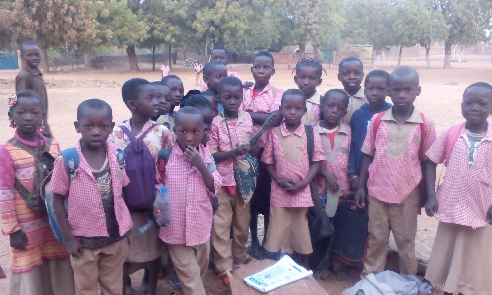Schüler einer privaten Grundschule